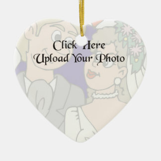 Custom Photo Wedding Heart Ornament