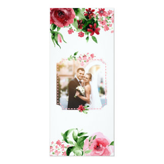 Custom Photo Wedding Invitation Card Floral Unique