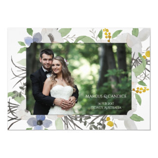 Custom Photo Wedding Invitation Card Save The Date