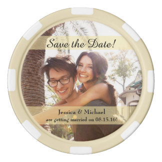 Custom Photo Wedding Save the Date Poker Chips