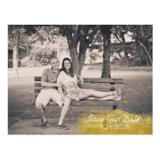 Custom Photo Wedding Save The Date Postcard
