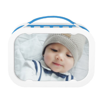 Custom Photo with Monogram and Name Lunchbox