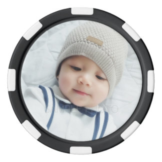Custom Photo with Monogram and Name Poker Chips