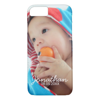 Custom Photo with Name and Date iPhone 8/7 Case