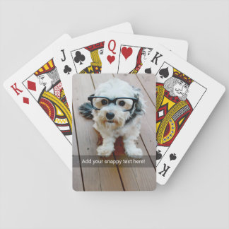 Custom Photo with Your Own Snap Chat Meme Poker Deck