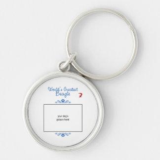 Custom Photo! Worlds Greatest Beagle Key Ring