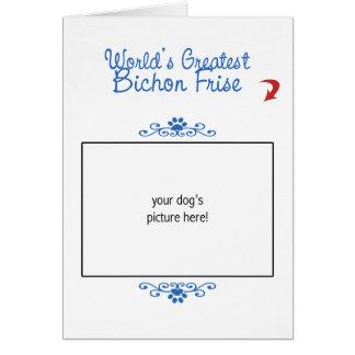 Custom Photo! Worlds Greatest Bichon Frise Card