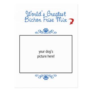 Custom Photo! Worlds Greatest Bichon Frise Mix Postcard