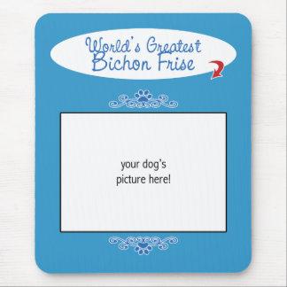Custom Photo! Worlds Greatest Bichon Frise Mouse Mat