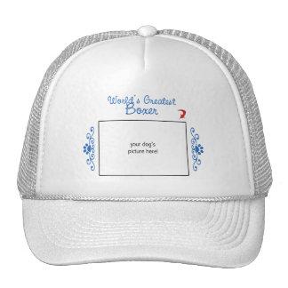 Custom Photo Worlds Greatest Boxer Trucker Hat