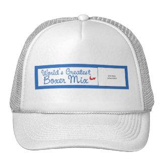 Custom Photo! Worlds Greatest Boxer Mix Trucker Hat