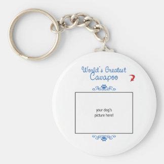 Custom Photo! Worlds Greatest Cavapoo Keychains