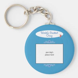Custom Photo! Worlds Greatest Chug Basic Round Button Key Ring