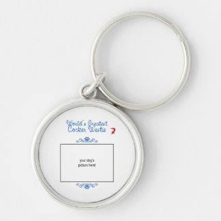 Custom Photo! Worlds Greatest Cocker Westie Key Ring