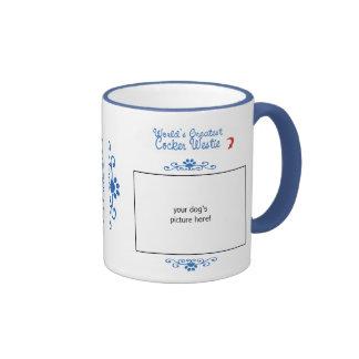 Custom Photo! Worlds Greatest Cocker Westie Ringer Mug