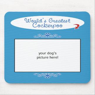 Custom Photo! Worlds Greatest Cockerpoo Mousepad