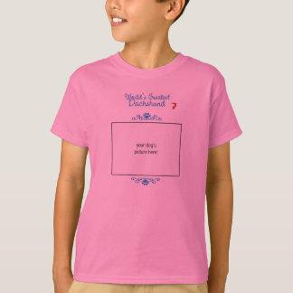 Custom Photo! Worlds Greatest Dachshund T-Shirt