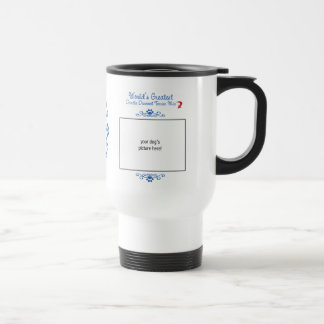Custom Photo! Worlds Greatest Dandie Dinmont Mix Stainless Steel Travel Mug