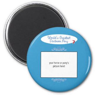 Custom Photo! Worlds Greatest Dartmoor Pony 6 Cm Round Magnet