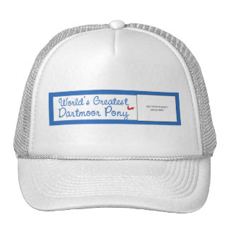 Custom Photo! Worlds Greatest Dartmoor Pony Trucker Hat