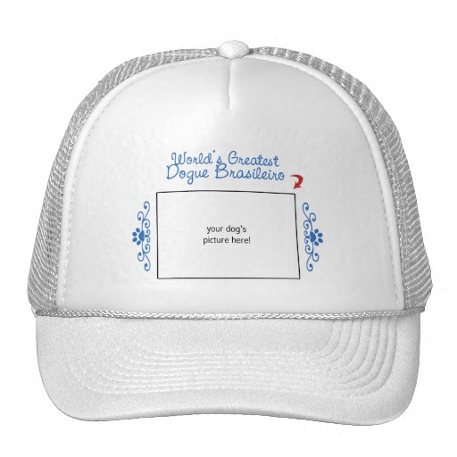 Custom Photo! Worlds Greatest Dogue Brasileiro Mesh Hat