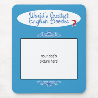 Custom Photo! Worlds Greatest English Boodle Mouse Pad