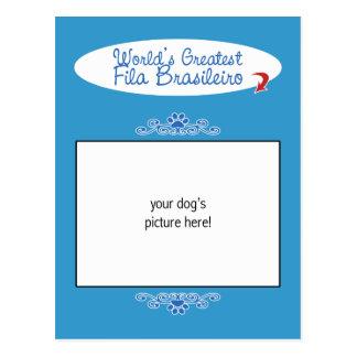 Custom Photo Worlds Greatest Fila Brasileiro Post Card