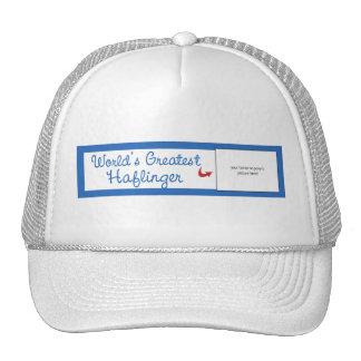 Custom Photo! Worlds Greatest Haflinger Trucker Hat