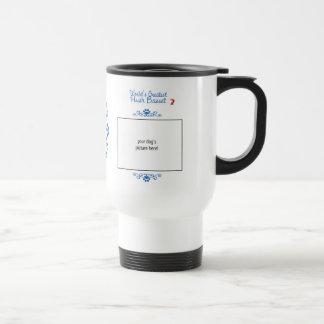 Custom Photo! Worlds Greatest Hush Basset Stainless Steel Travel Mug