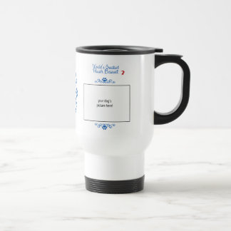 Custom Photo! Worlds Greatest Hush Basset Travel Mug