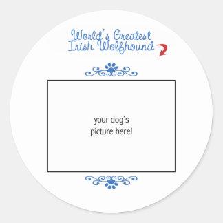 Custom Photo Worlds Greatest Irish Wolfhound Sticker