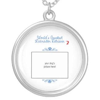 Custom Photo! Worlds Greatest Labrador Retriever Silver Plated Necklace