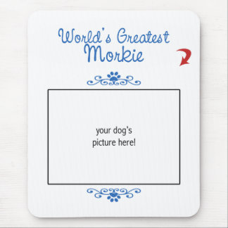 Custom Photo Worlds Greatest Morkie Mousepad