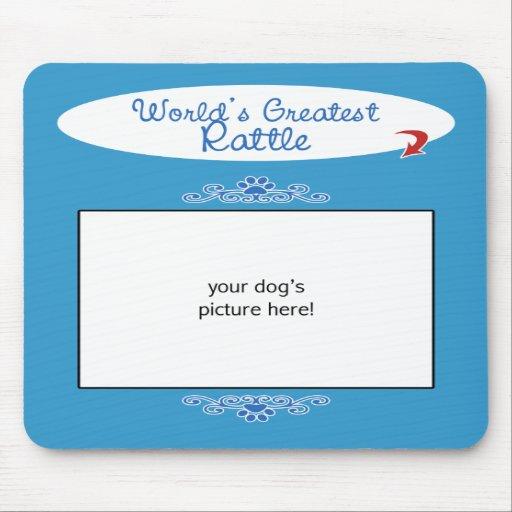Custom Photo! Worlds Greatest Rattle Mousepad