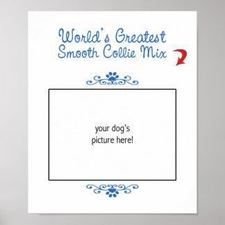 Custom Photo Worlds Greatest Smooth Collie Mix Print