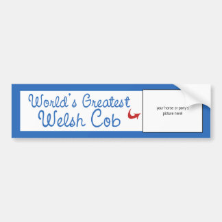 Custom Photo! Worlds Greatest Welsh Cob Bumper Sticker