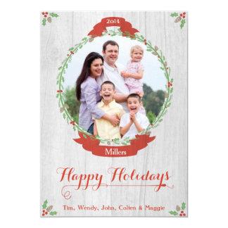 Custom Photo Wreath Holiday Card