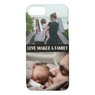 Custom photo x2 and quote iPhone 8/7 case
