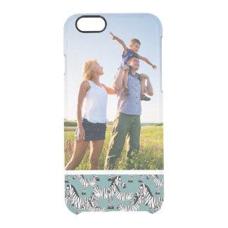 Custom Photo Zebra Pattern Clear iPhone 6/6S Case