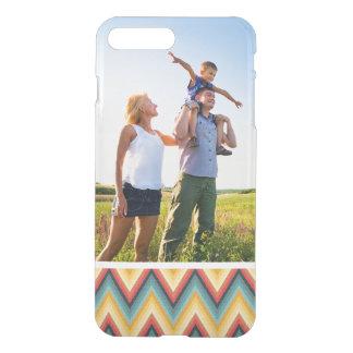 Custom Photo Zig Zag Striped Background 2 iPhone 8 Plus/7 Plus Case