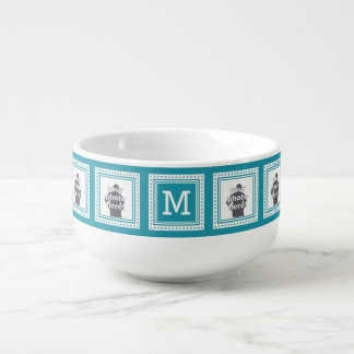 CUSTOM PHOTOS, MONOGRAM & COLOR soup mug
