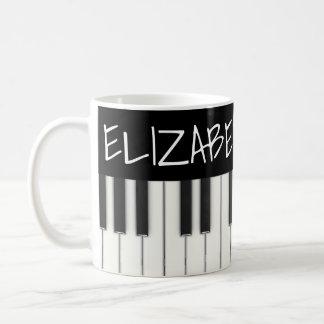 Custom Piano Keys Coffee Mug