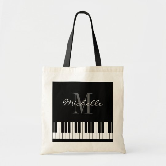 Custom piano keys tote bag for teacher and
