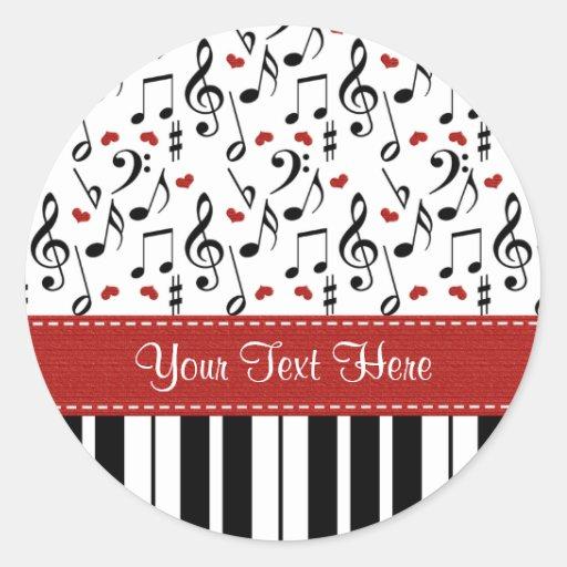Custom Piano Music Notes Stickers