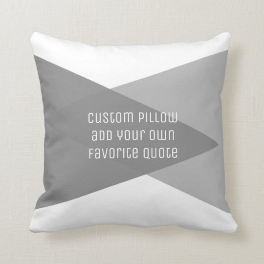 custom pillow add your own quote modern chic