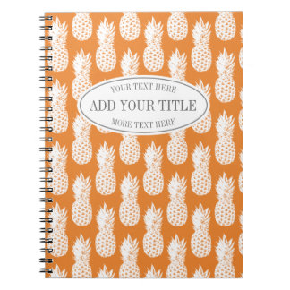 Custom pineapple food diary journal notebook