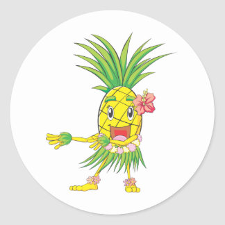 Custom Pineapple Hula Dancer Dancing Stickers
