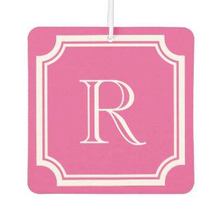 Custom pink and mint monogram car air fresheners