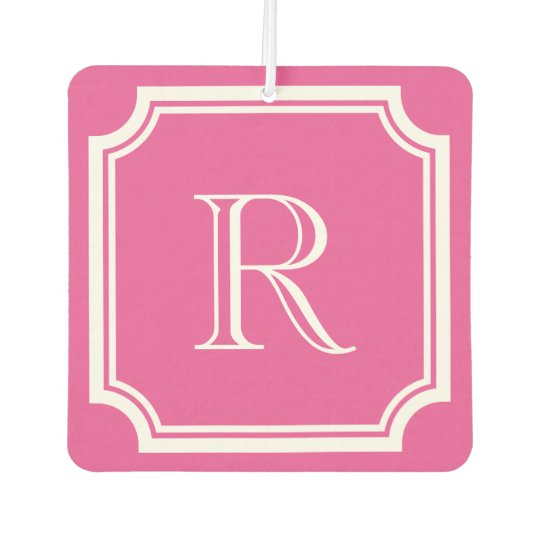 Custom pink and mint monogram car air fresheners
