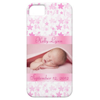 Custom Pink Baby Photo Barely There iPhone 5 Case